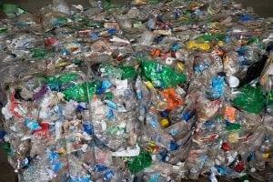 Baled PET bottles