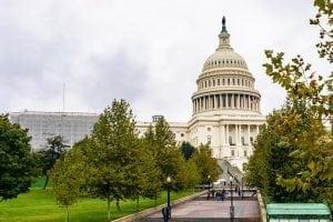 U.S. Capitol building exterior.