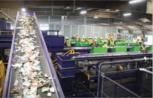 Recycling facility interior.