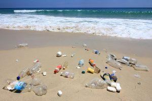 Plastics littering a beach in Malaysia.