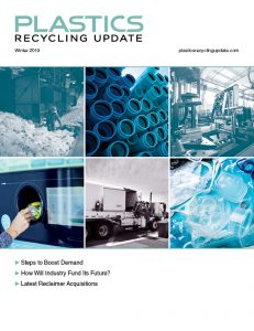 Plastics Recycling Update Winter 2019 cover