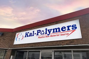 Exterior of Kal Polymers building.