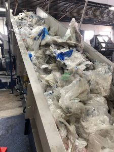 Processing equipment inside the Enviroplast facility.
