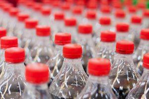 Plastic soda bottles.