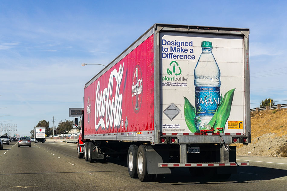 Coca-Cola delivery truck.