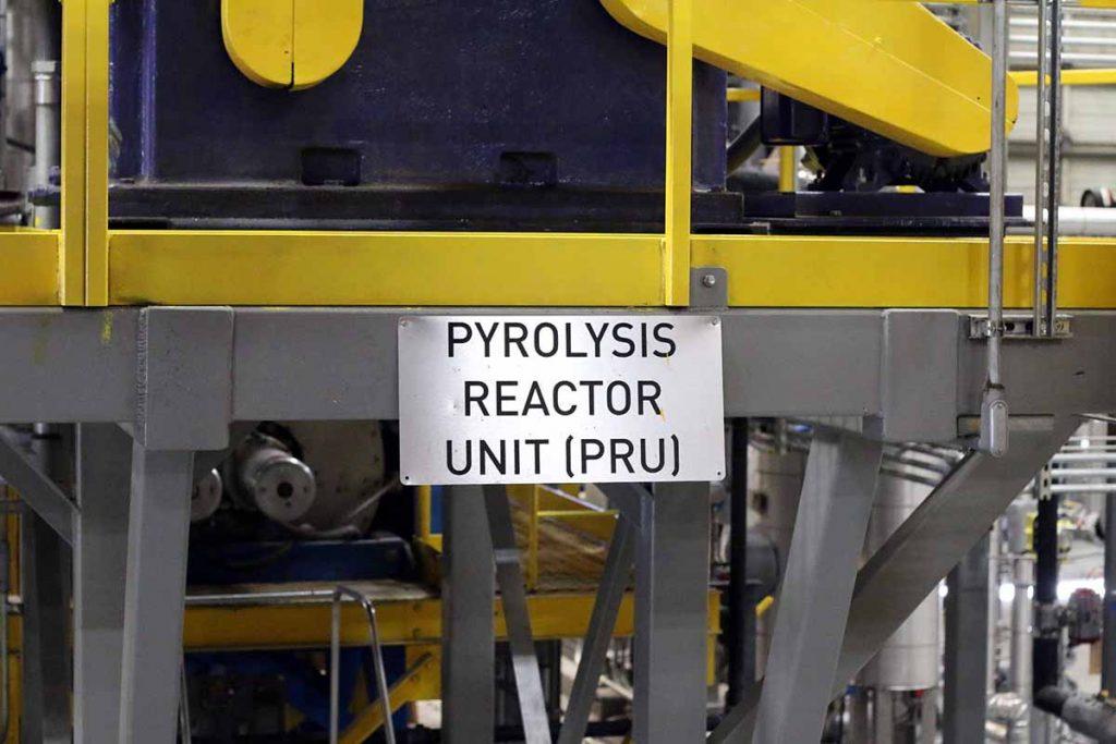 Pyrolysis equipment at Agilyx.