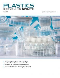 Fall 2020 Cover of Plastics Recycling Update magazine