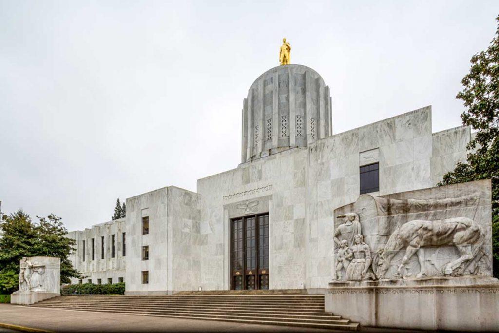 Oregon state capitol building.