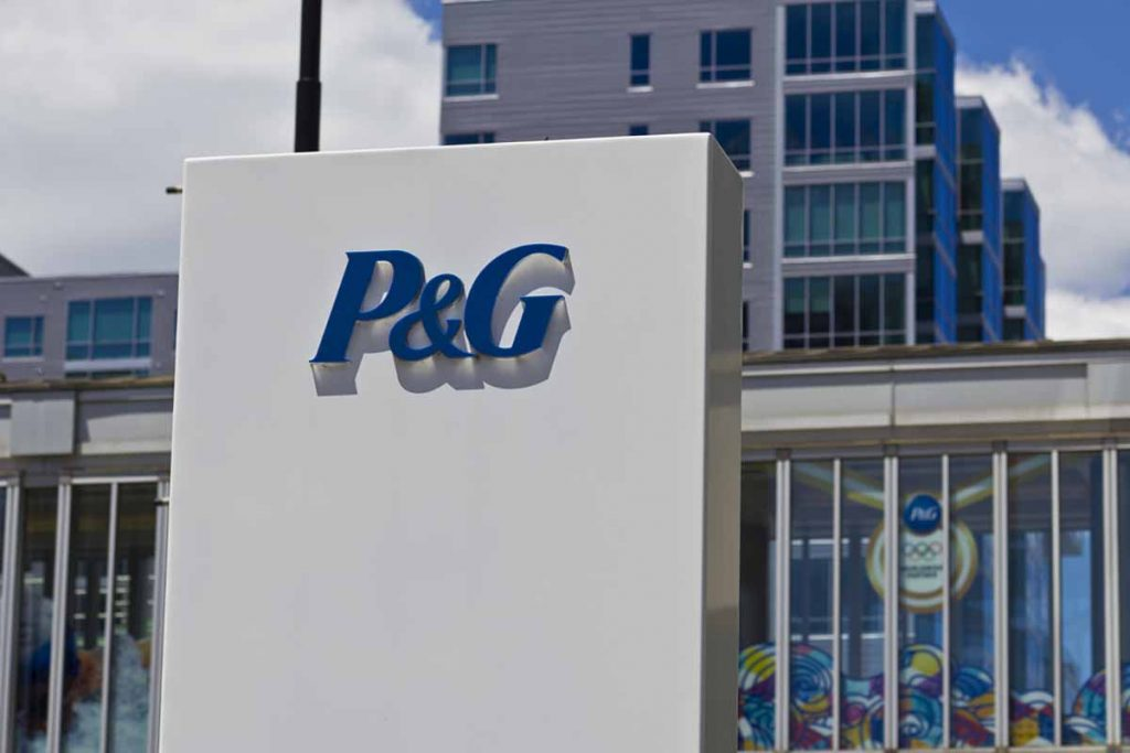 P&G company sign outside of corporate offices.