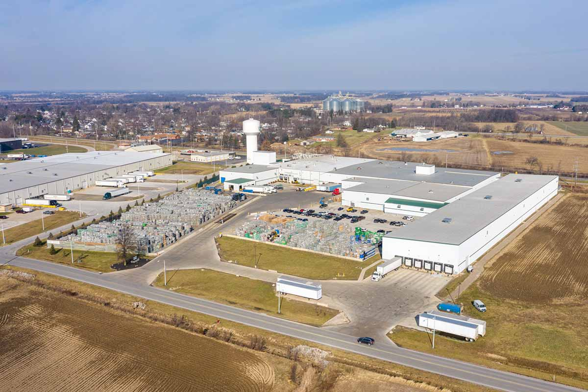 Aerial view of the Evergreen facility in Clyde, Ohio.