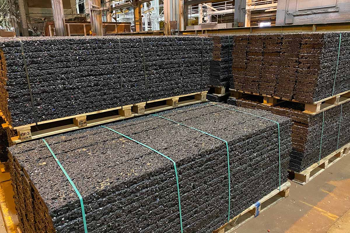 HydroBlox products on pallets.