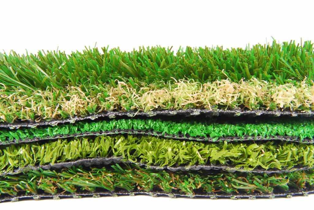 Artificial turf for recycling.