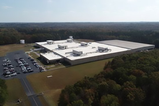 Aerial view of Polywood's Roxboro, N.C. facility.