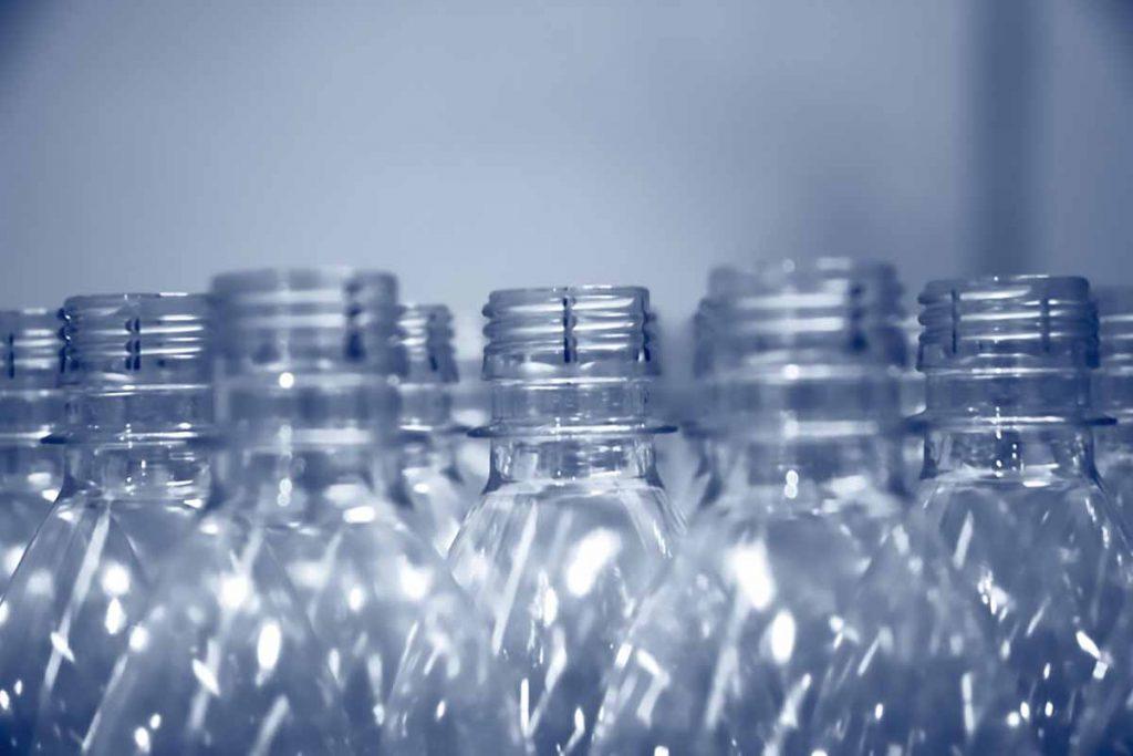 PET water bottle necks.