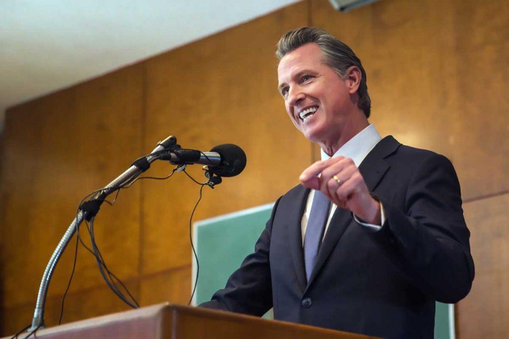 Gavin Newsom, California governor.