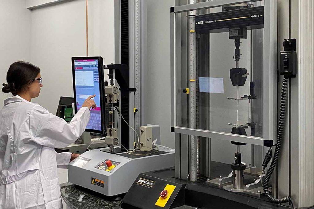 Plastics testing equipment at PFE's new facility in Merrimack, N.H.