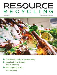 Resource Recycling magazine, Feb 2017