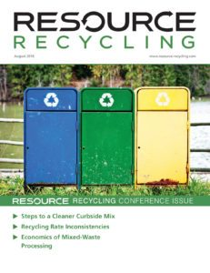 Resource Recycling magazine, Aug. 2016