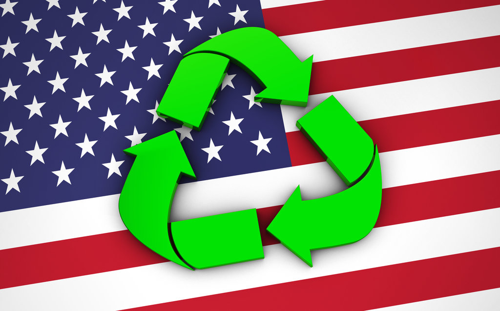 Recycling US Flag / niroworld, Shutterstock