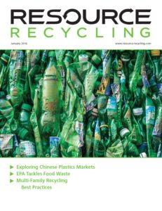 Resource Recycling magazine, Jan. 2016