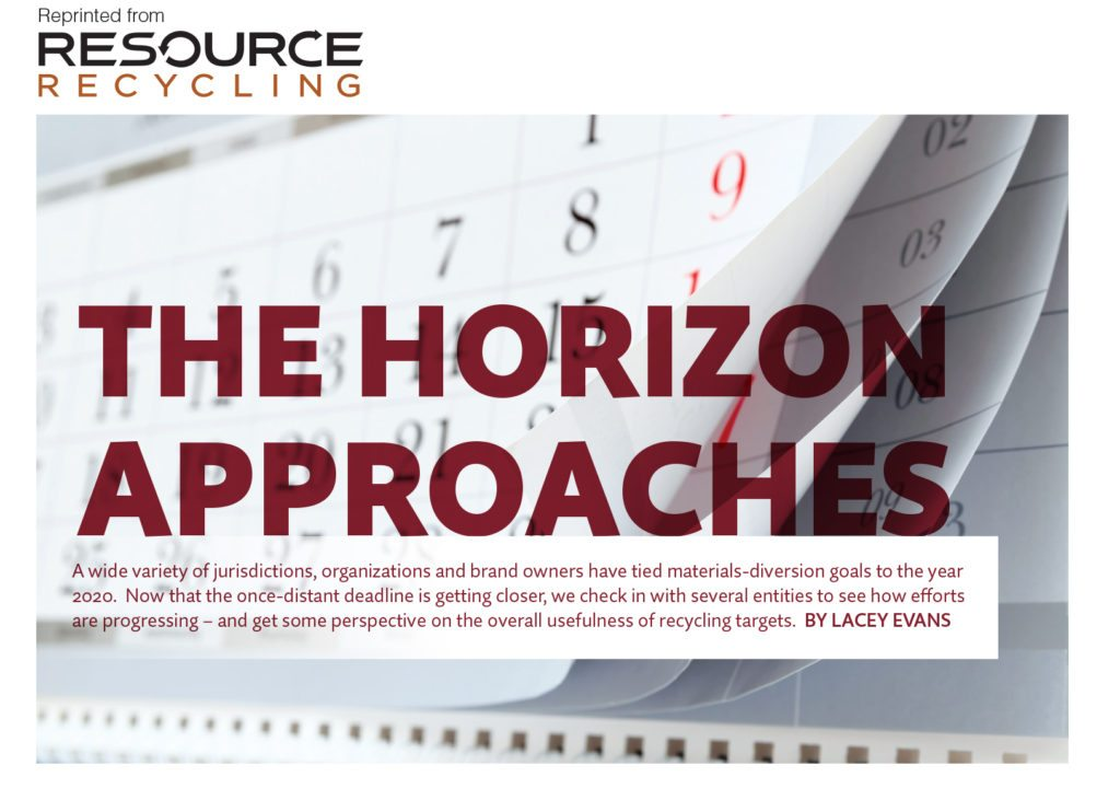 The Horizon Approaches, Resource Recycling magazine Oct. 2016