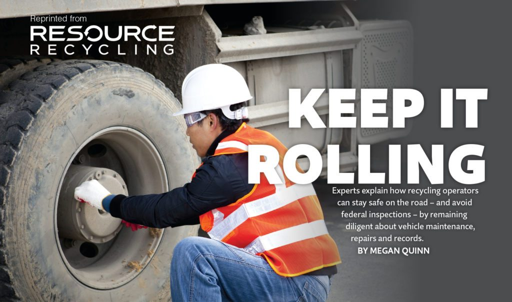Keep it rolling, Resource Recycling magazine, Oct. 2016