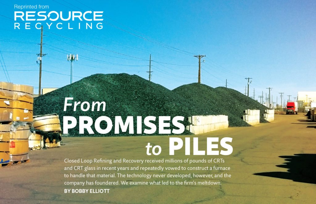 Sept. 2016, Resource Recycling magazine