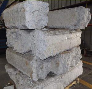 Densified foam polystyrene