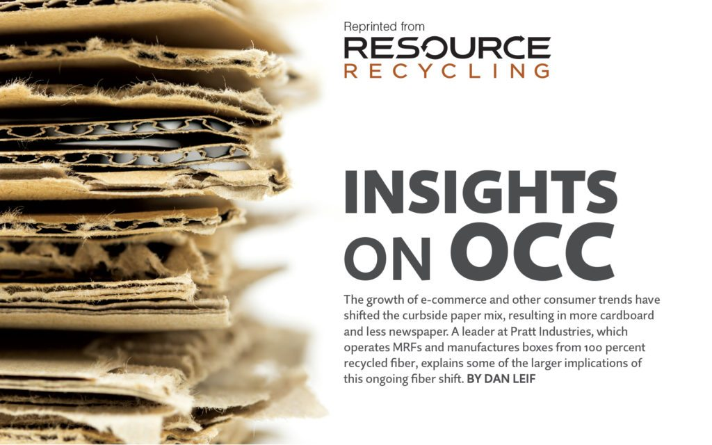 Insights on OCC, Resource Recycling, Dec. 2016