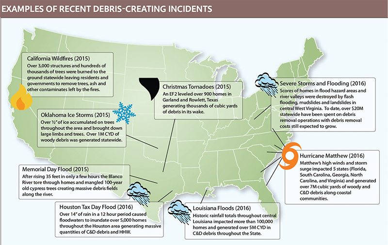 disaster cleanup map