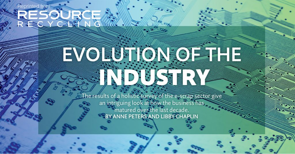Evolution of the industry, Resource Recycling March 2016