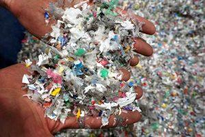 shredded plastic film for recycling