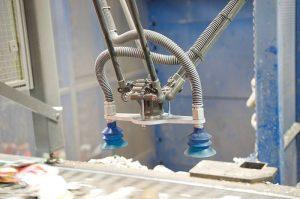A robotic sorting machine at work.