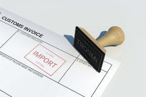 customs import