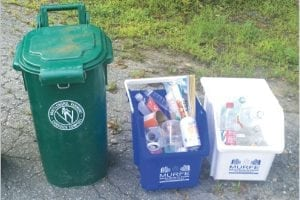 Curbside recycling in Brattleboro, Vt.