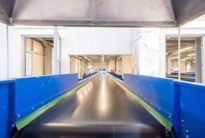 Conveyor belt at a MRF.