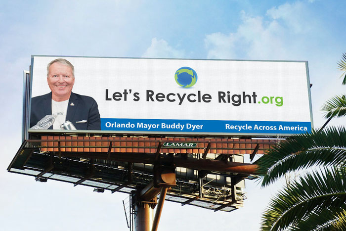 Billboard from Recycle Across America.