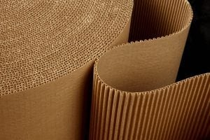 A roll of containerboard.