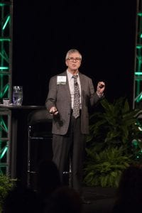 Bill Moore speaks at the 2018 Resource Recycling Conference.