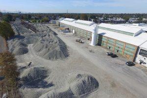 Aerial view of Aero Aggregates facility.