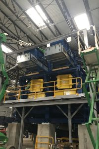 Installation of Rocket Mill system in RePower Montgomery facility.