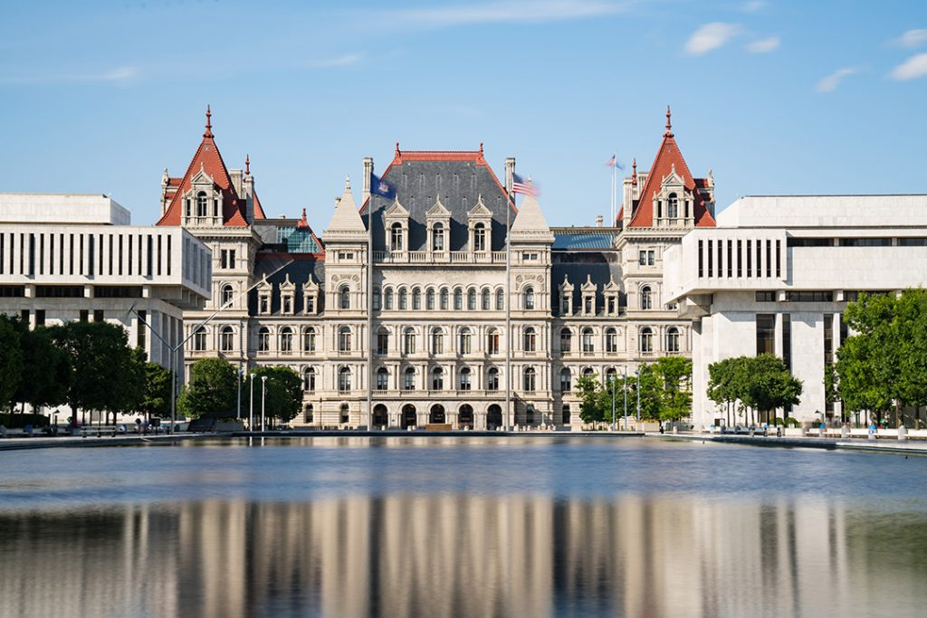 The N.Y. state capital building in Albany.