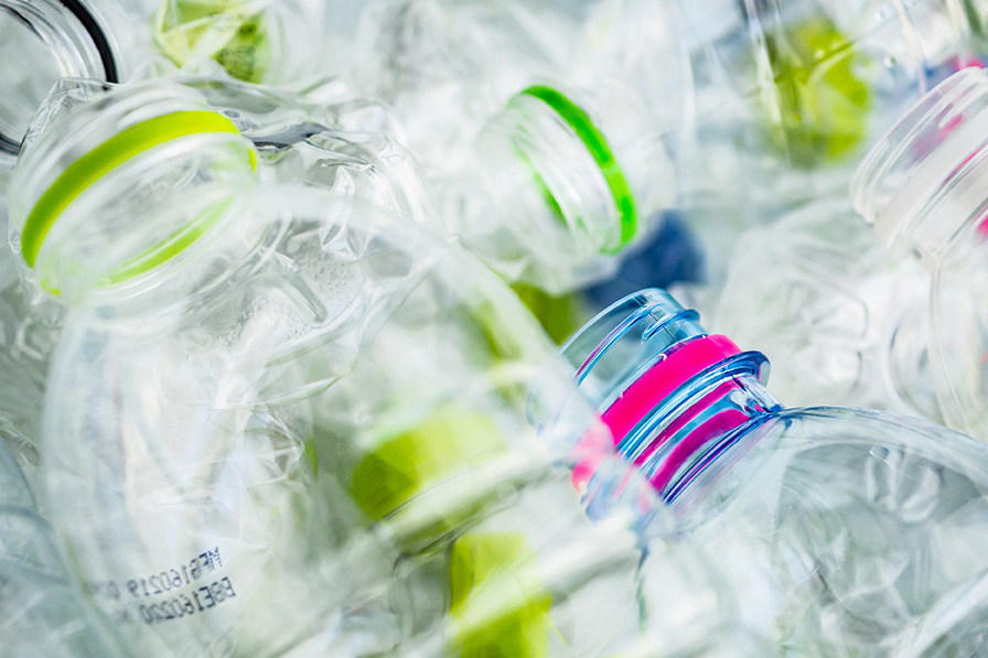 PET bottles for recycling.