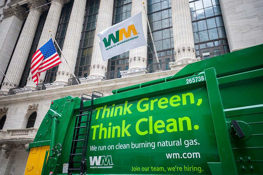 Waste Management truck.