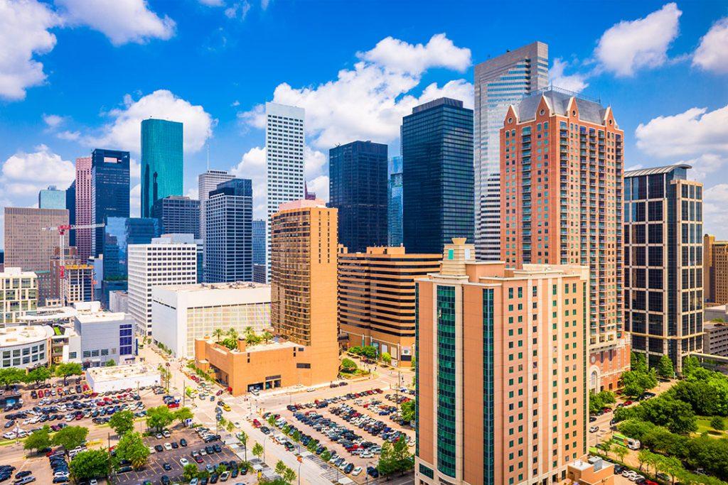 Houston downtown skyline.