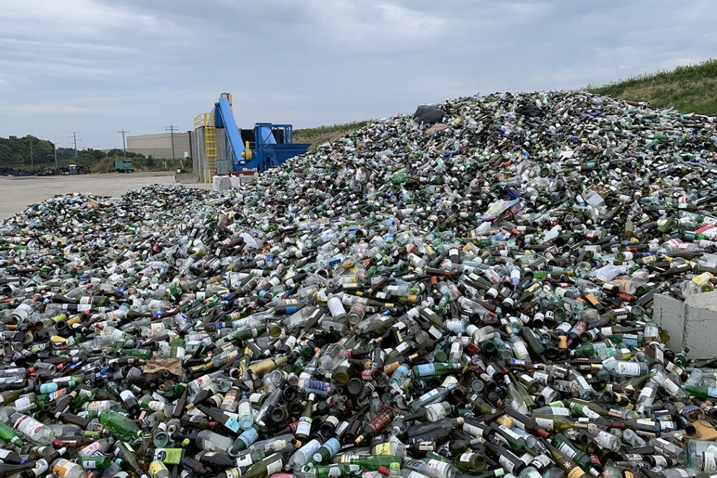 Glass recycling in Fairfax County, Va.