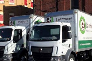 Earthworm uses box trucks for collection, picking up four separate streams of material from small-business clients.