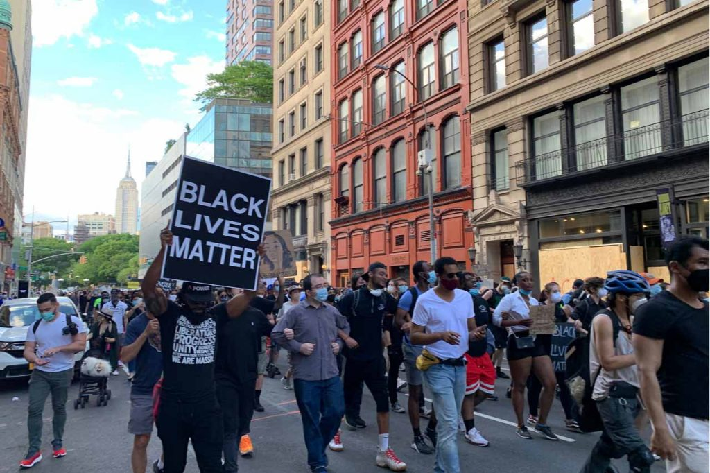 Black Lives Matter marchers.
