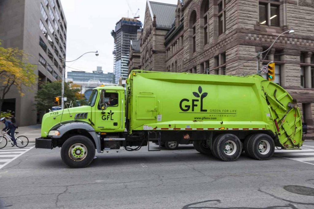 GFL waste hauling truck.