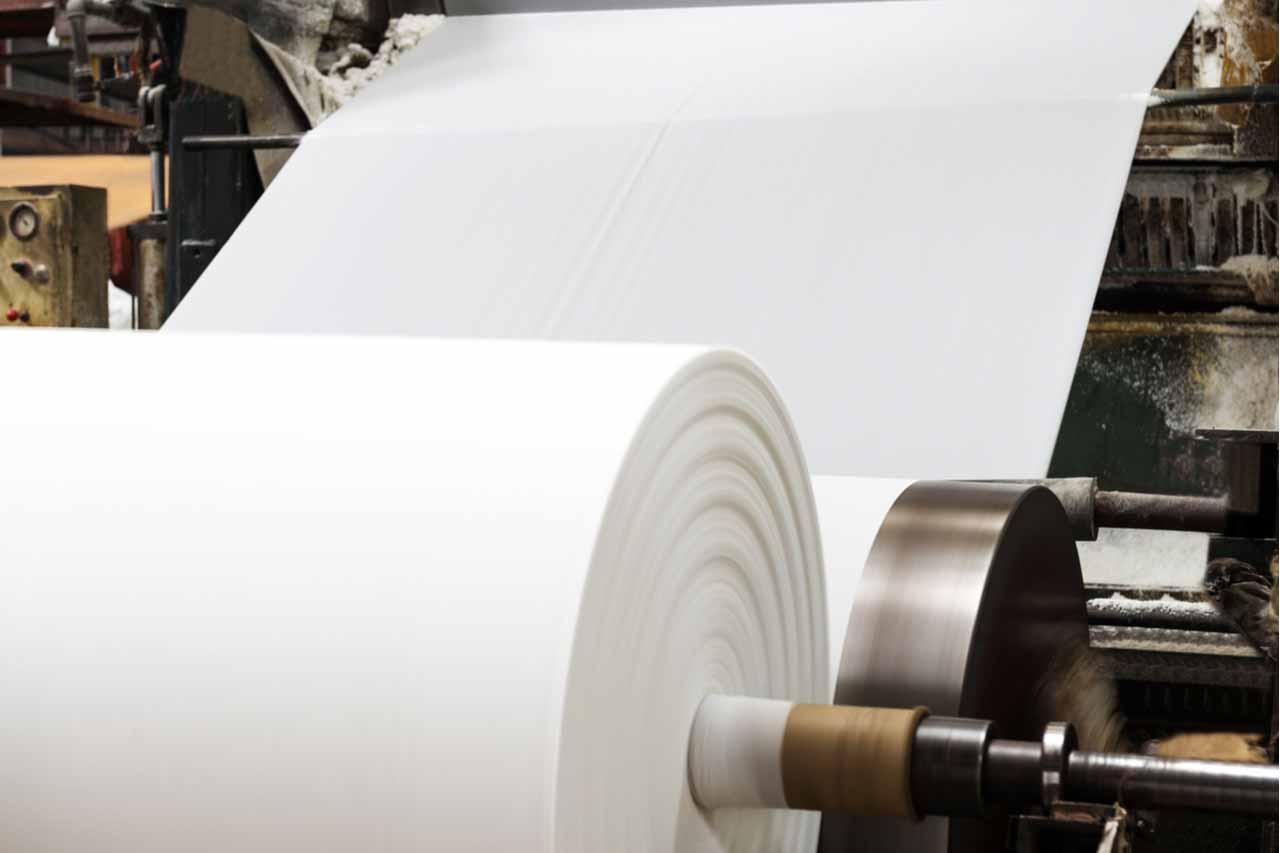 Paper mill scene.